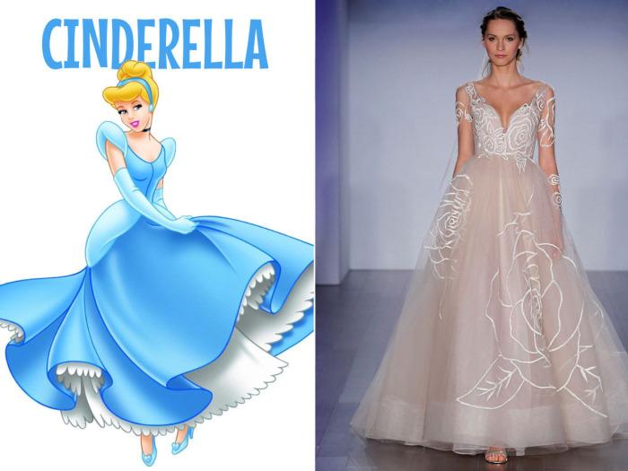 Шикарное свадебное платье от американского бренда Jim Hjelm для фанаток Золушки (Cinderella) из одноименного диснеевского мультфильма