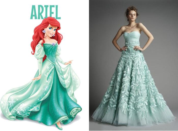 Восхитительное свадебное платье от Зухаира Мурада (Zuhair Murad) для фанаток Ариель из мультфильма Русалочка (Ariel).