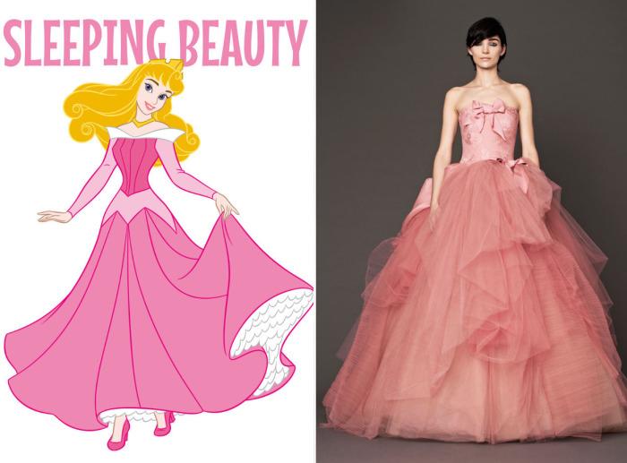 Великолепное свадебное платье от Веры Вонг (Vera Wang) для фанаток Авроры из мультфильма Спящая красавица (Sleeping Beauty).
