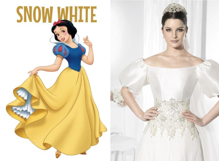 Роскошное свадебное платье от испанского бренда Franc Sarabia для фанаток Белоснежки (Snow White) из одноименного диснеевского мультфильма.