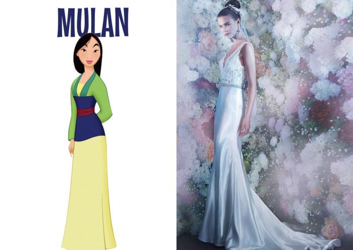 Очаровательное свадебное платье от британского бренда Annasul Y для фанаток Мулан (Mulan) из одноименного диснеевского мультфильма.
