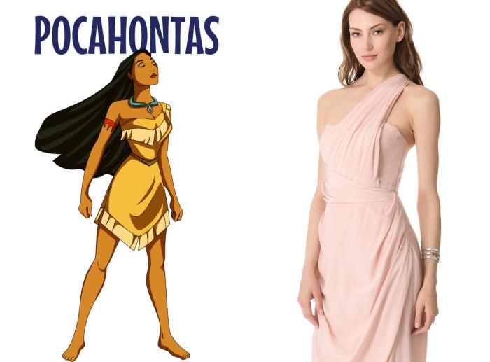 Изумительное свадебное платье от американского бренда Zimmermann для фанаток Покахонтас (Pocahontas) из одноименного диснеевского мультфильма.