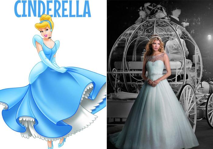 Свадебные платья для девушек, которые всегда мечтали побыть на месте диснеевских принцесс.