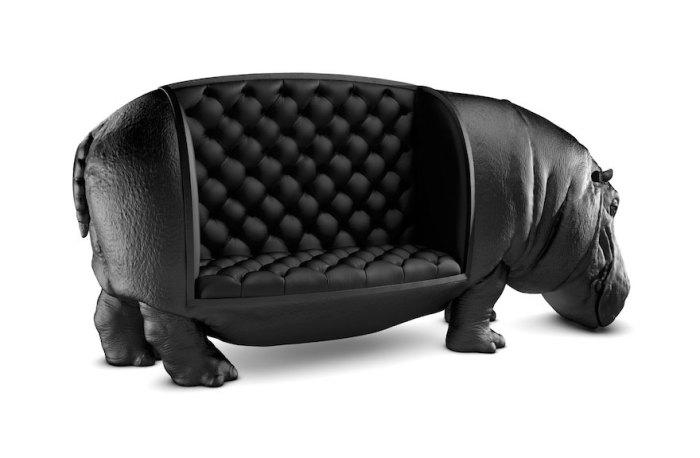 Сафари на дому: экзотический диван в виде огромного гиппопотама