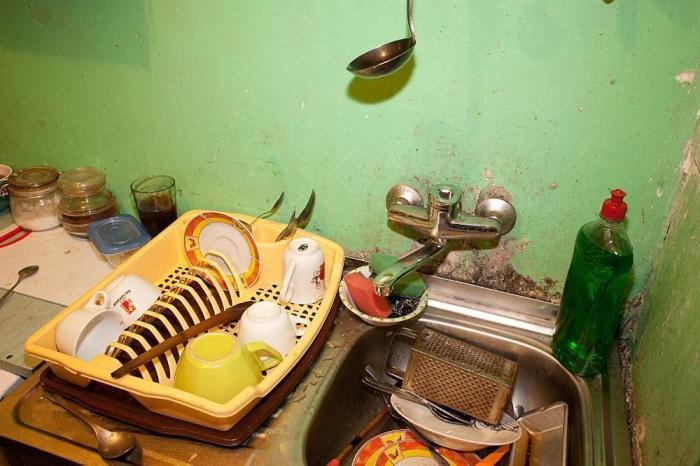 Кухня холостяка-румына.