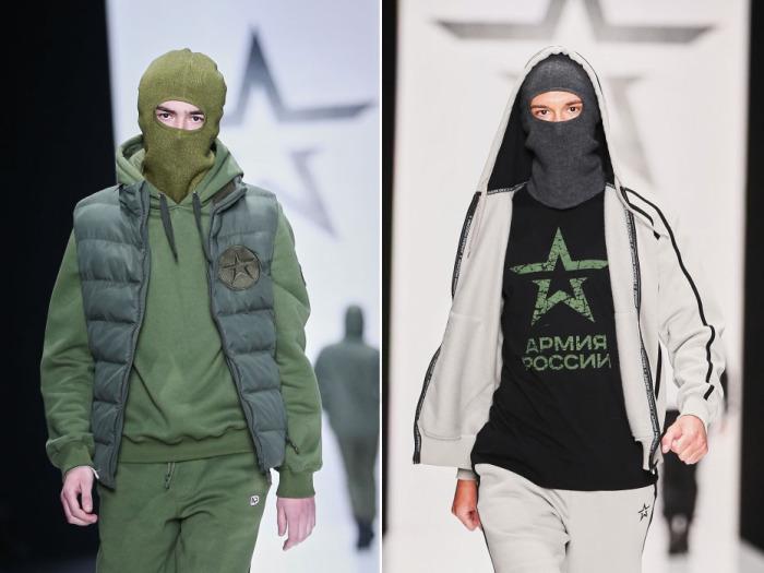 Новая коллекция одежды в стиле милитари от Леонида Алексеева.