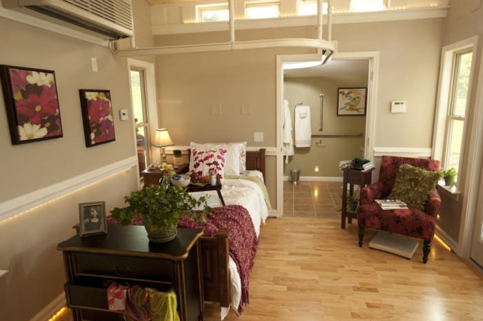 «Granny Pod» - маленький, но очень комфортный дом для пожилых людей.