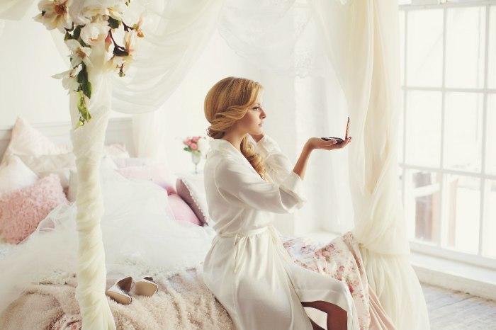 За пару недель до церемонии бракосочетания нужно проверить реакцию на выбранные косметические средства.