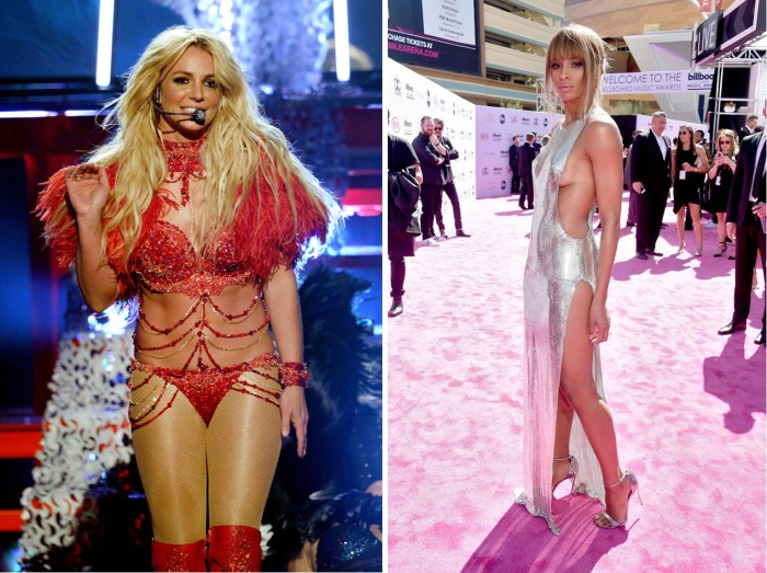 Селебрити выбрали для церемонии вручения музыкальных наград «Billboard Music Awards-2016» довольно откровенные наряды.