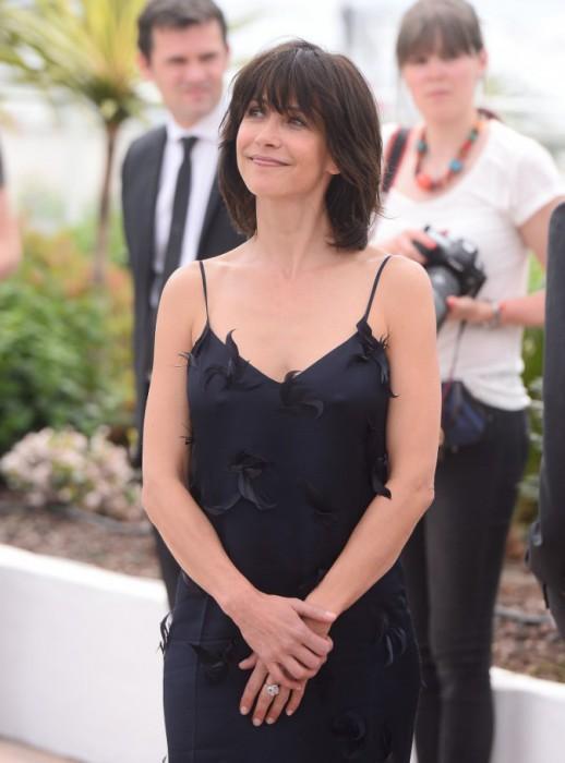Софи Марсо в платье от Nina Ricci на торжественной церемонии открытия 68-го Международного Каннского кинофестиваля во Франции.