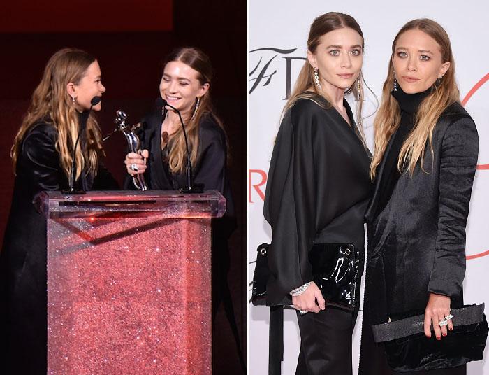Мэри-Кейт Олсен и Эшли Фуллер Олсен (Mary-Kate Olsen and Ashley Fuller Olsen) стали победителями в номинации Лучший дизайнер женской одежды.