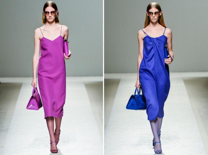 Лаконичные платья-комбинации из весенне-летней коллекции Max Mara.