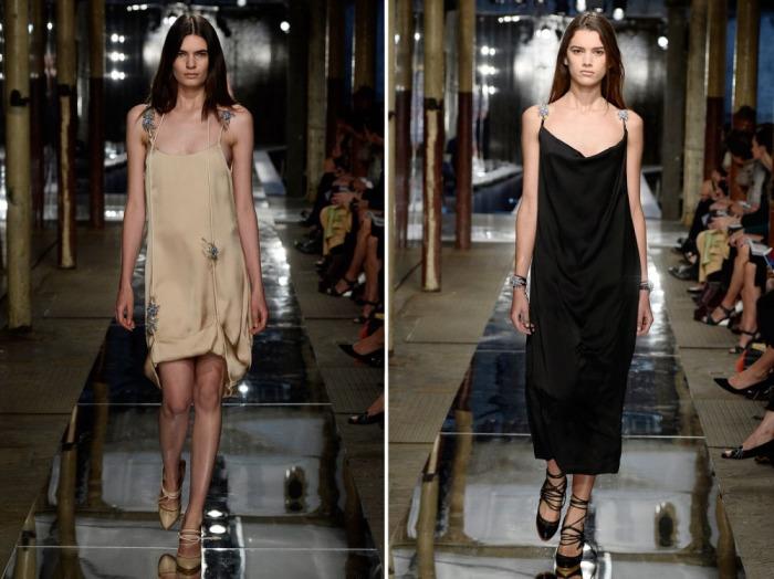 Необычные платья-комбинации из коллекции известного модельера Кристофера Кейна.