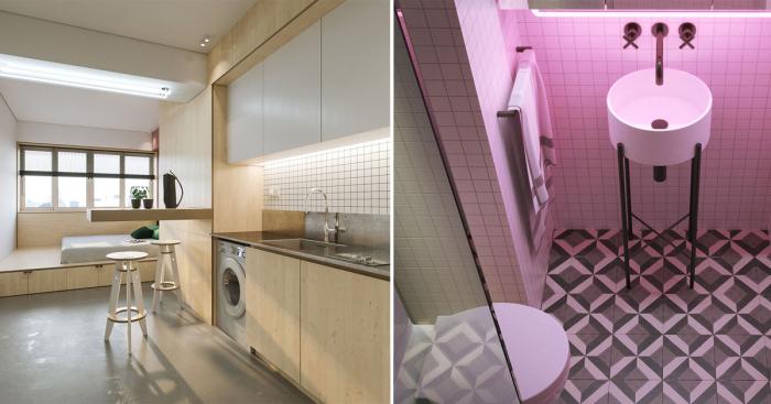 Малогабаритная квартира превратилась в потрясающие апартаменты в стиле минимализма.