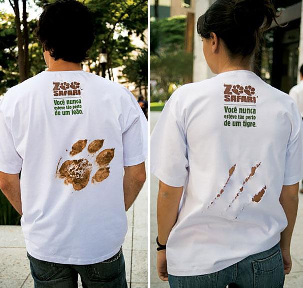 Слоганы на футболках: «Вы никогда не были так близко ко льву» и «Вы никогда не были так близко к тигру».