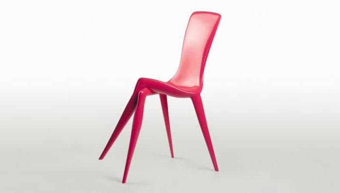 Розовый женский стульчик
