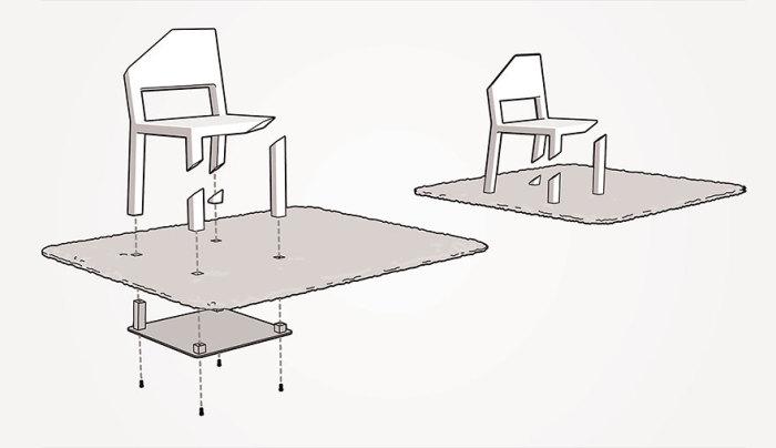 Вот в чем секрет стула с подрезанными ножками