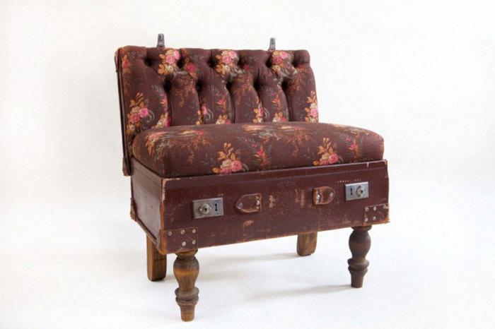 Кресло в виде чемодана