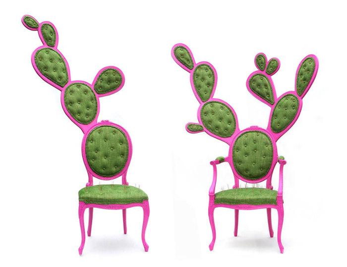 Стулья в виде кактусов