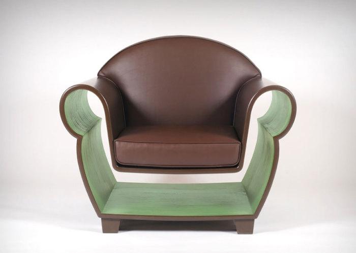 Кресло с полкой