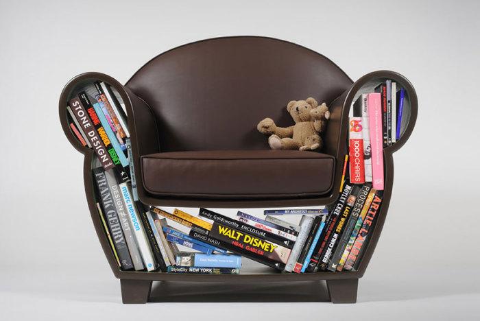 Кресло, в котором можно хранить вещи