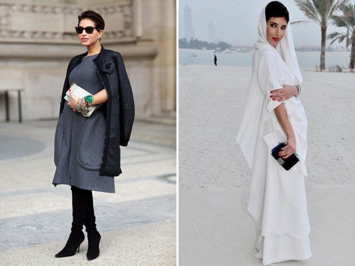 Принцесса Саудовской Аравии прекрасно выглядит как в европейских нарядах, так и в традиционных восточных.