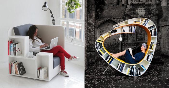 Несколько оригинальных идей, которые помогут обустроить комфортное место для чтения любимых книг и журналов.