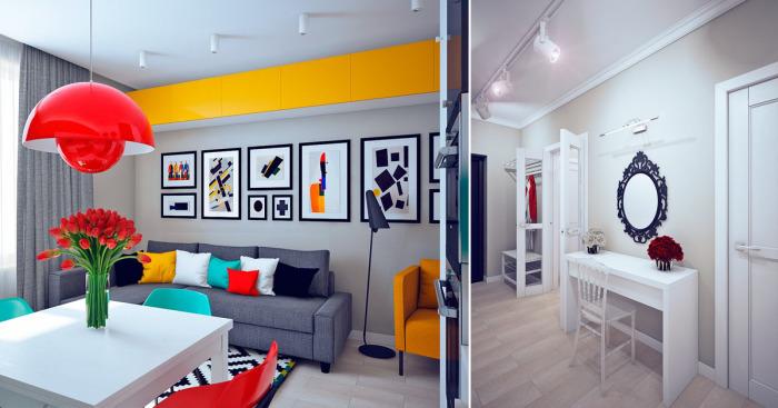 В этой квартире, которая находится в Санкт-Петербурге, дизайн всех комнат выполнен в разных стилях искусства.
