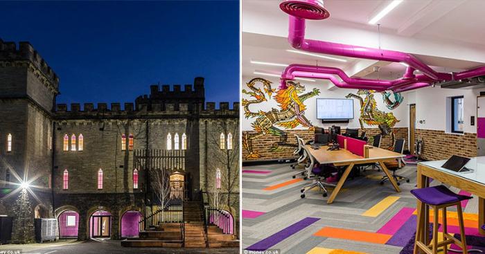 Потрясающее рабочее пространство в одном из замков Англии.