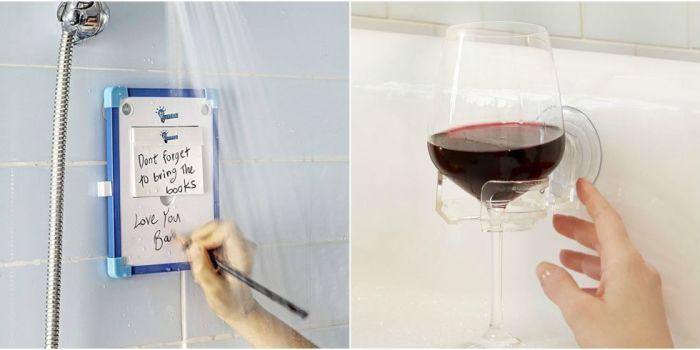 Несколько забавных штуковин, которые сделают вашу ванную необычной и комфортной комнатой.