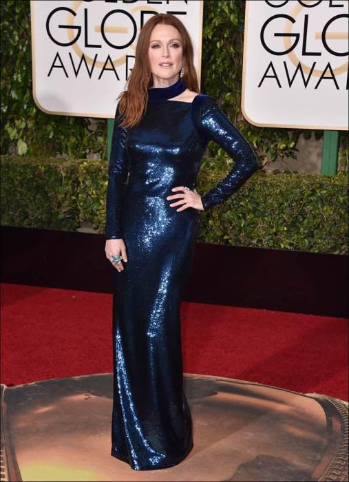 Американская актриса Джулианна Мур (Julianne Moore) в в платье от американского дизайнера Тома Форда («Tom Ford»).