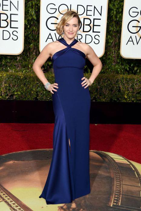 Известная актриса Кейт Уинслет (Kate Winslet) в платье от американского модного дома «Ralph Lauren».