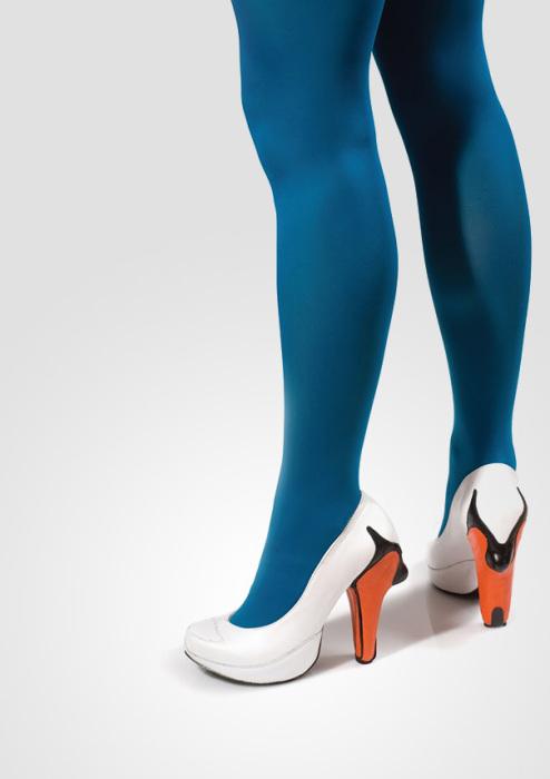 Туфли, напоминающие лебедей, от Коби Леви.