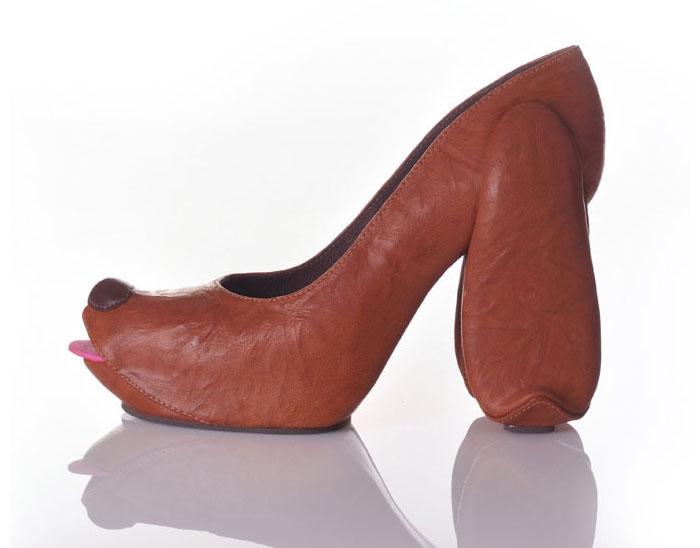 Туфли-собачки.