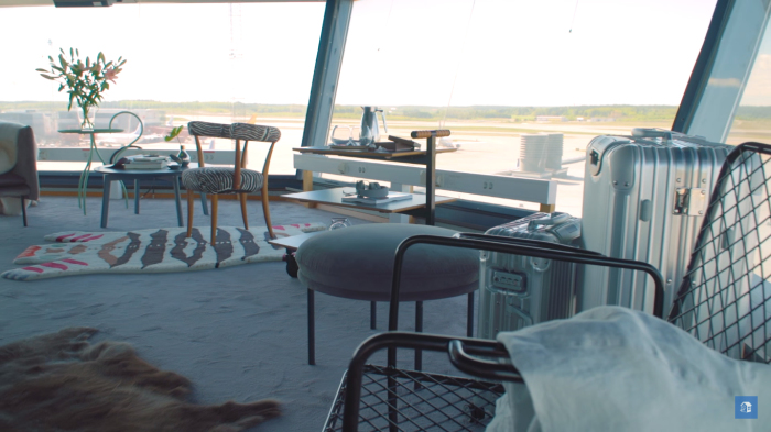 Комфортная и стильная квартира, которую сделали прямо в воздушной башне аэропорта Арланда в Стокгольме.