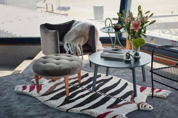 В квартире, расположенной в воздушной башне стокгольмского аэропорта Арланда, красиво и уютно.