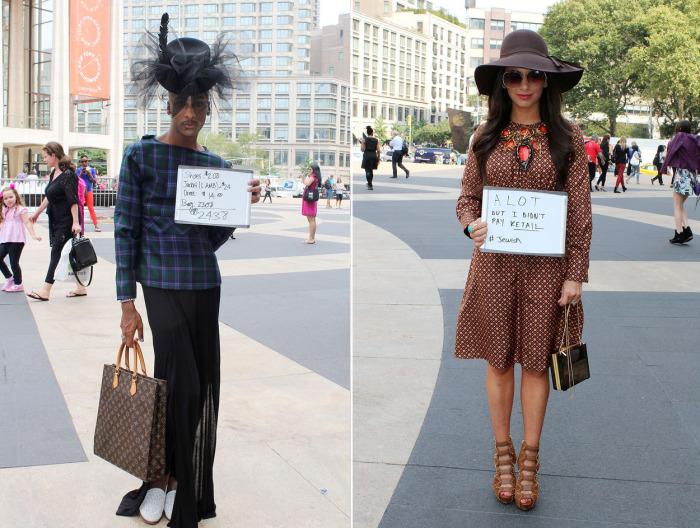 Люди на улицах Нью-Йорка признались сколько стоит их одежда.