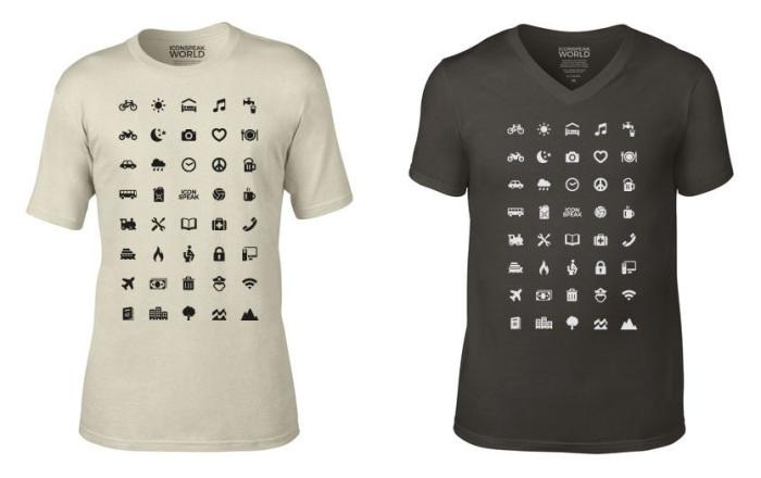 Если путешественник не знает иностранного языка, футболка «скажет» все за него.