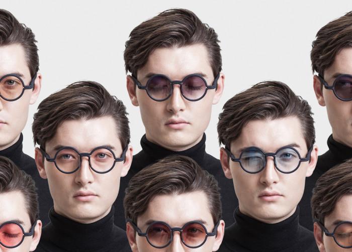 Очки с индивидуализированными оправами от дизайнера из Гонконга Эдмонда Вонга (Edmond Wong).