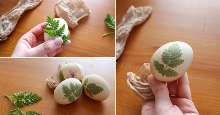 Старые капроновые колготки - отличное средство для окрашивания яиц на Пасху.