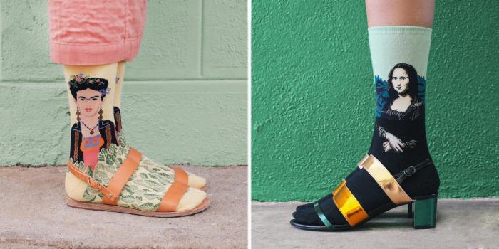 «Art Socks» - проект, в котором обычные носки стали своеобразными холстами для шедевров мировой живописи.