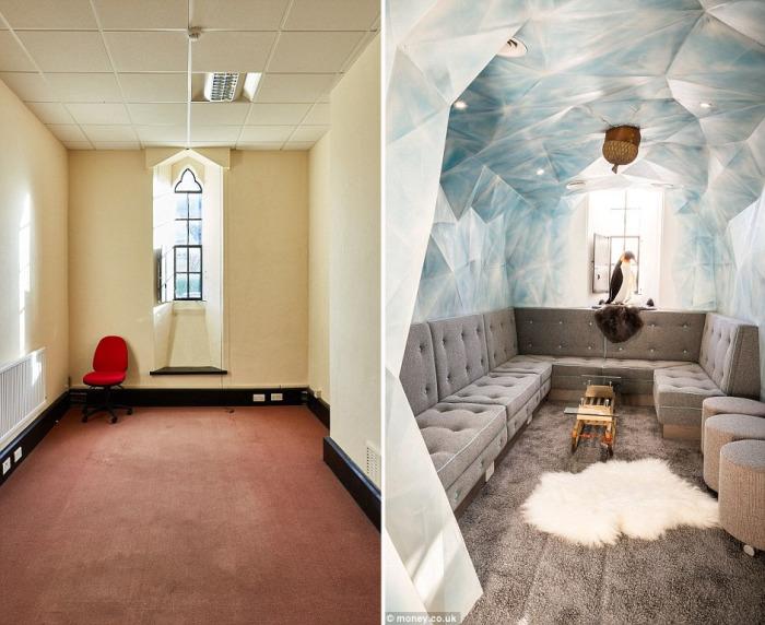 Одна из комнат превратилась в «ледяную пещеру» из легендарного мультика «Ледниковый период».