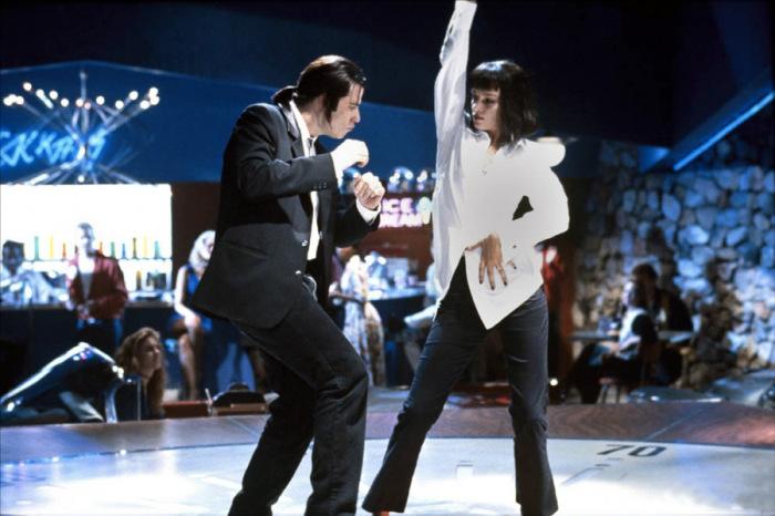Неподражаемая актриса Ума Турман в роли жены мафиози Мии Уоллес из фильма Криминальное чтиво (1994 год).