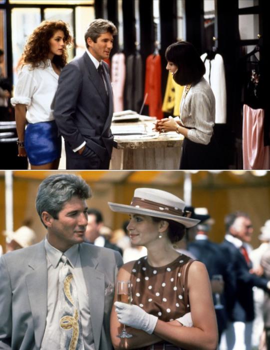Великолепная Джулия Робертс в роли Вивиан Уорд из фильма Красотка (1990 год).