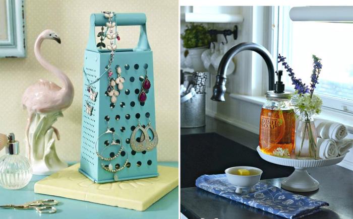 Несколько интересных идей для необычного использования обычных предметов, которые есть на каждой кухне.