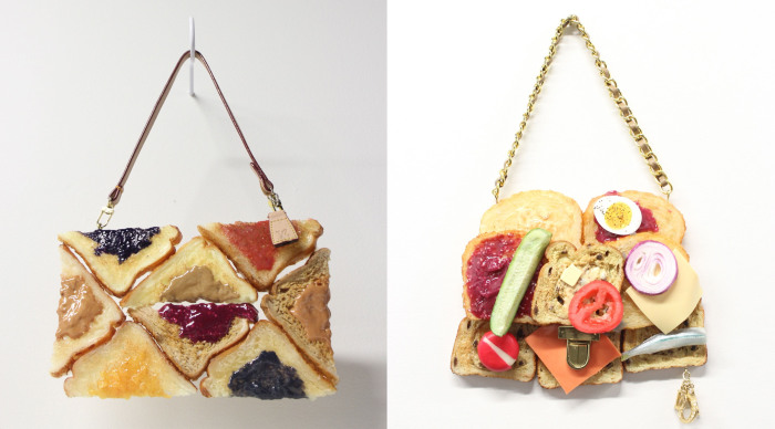 Брендовые сумки из тостов от американской художницы Chloe Wise (Хлои Вайз).