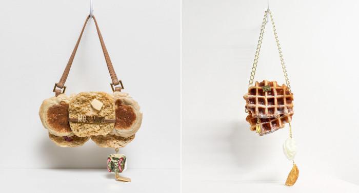 Хлібні сумки з впізнаваними логотипами модних брендів.