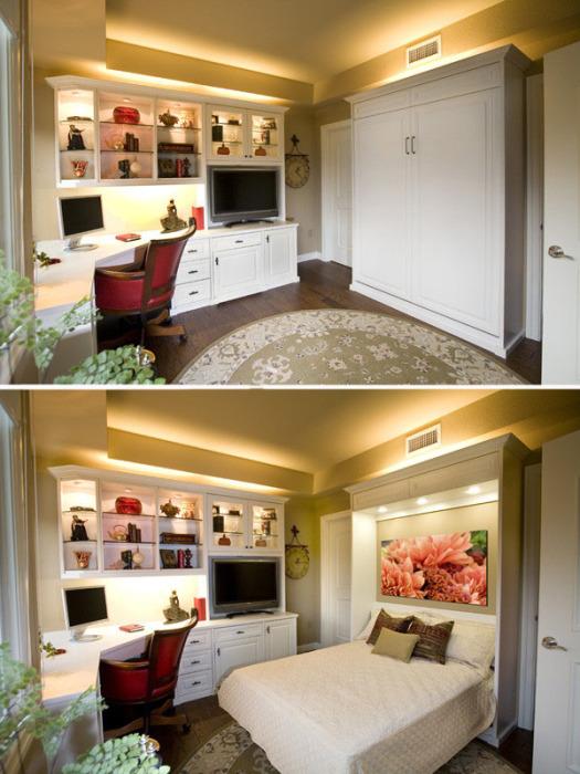 Кровать-трансформер позволяет сэкономить место в квартире и при этом спать с комфортом.