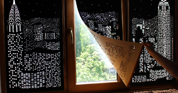 Уникальные рулонные шторы от киевской торговой марки «HoleRoll».