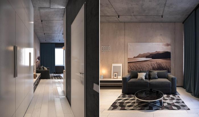 Маленькая, но очень стильная и уютная квартира-студия площадью 26 квадратных метров.